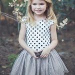 White is perfectly acceptable for dressing your little girl in this spring
