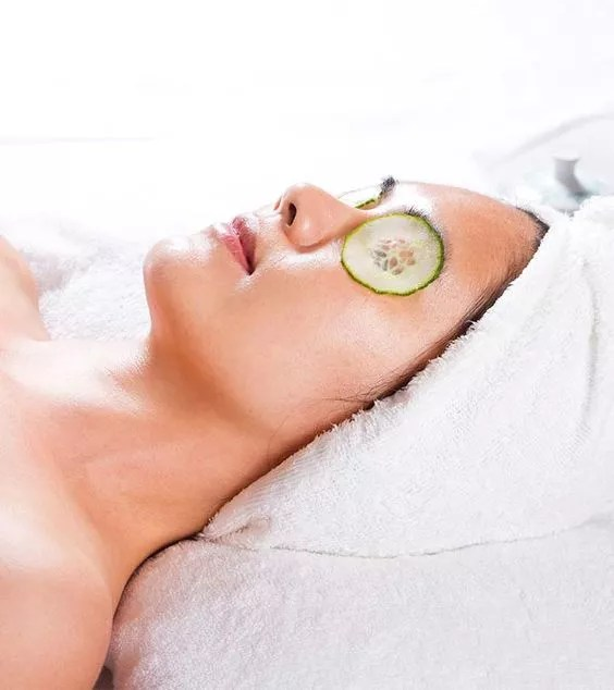 cucumber eye mask for bridal glow