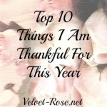Top 10 Things I Am Thankful For This Year