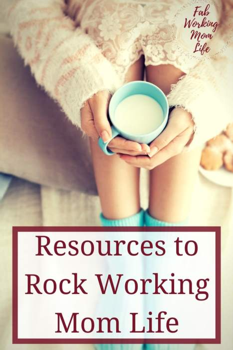 Resources to Rock Working Mom Life. Being a working mom is certainly a challenge - we are doing multiple jobs, wearing many hats, and doing our best to be great at everything. So here are some items, courses, and ideas that help make this life a little easier.