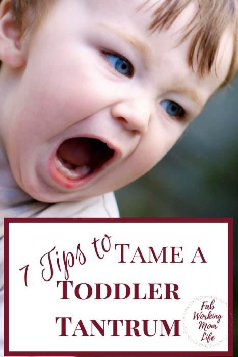 7 Tips To Tame a Toddler Tantrum