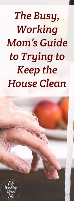 The Busy, Working Mom's Guide to Trying to Keep the House Clean