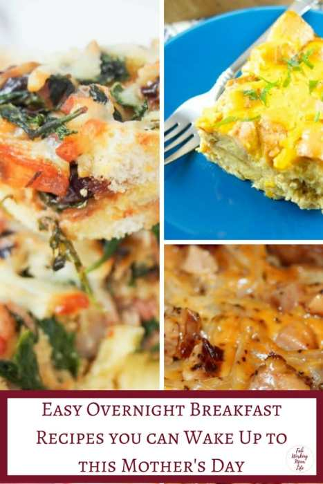 Easy Overnight Breakfast Recipes you can Wake Up to this Mother's Day   Fab Working Mom Life   #mothersday #breakfast #slowcooker   Overnight Breakfast Bake, Overnight Breakfast Casserole, Mother's day bruch