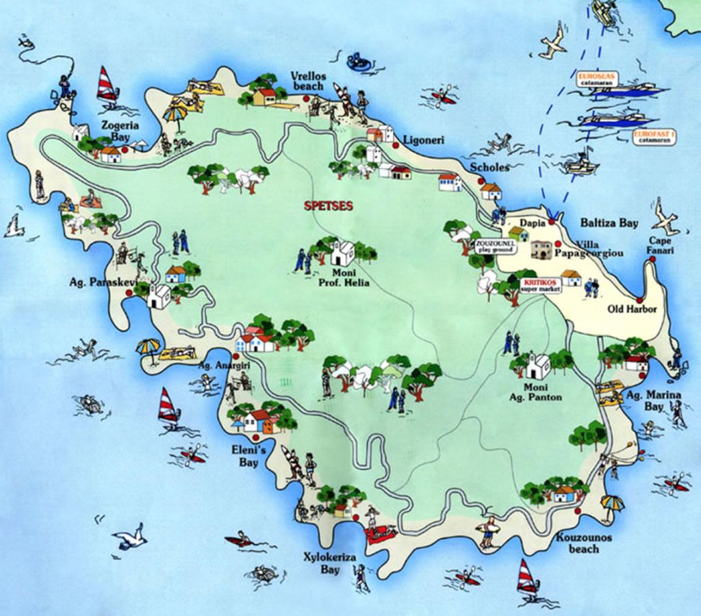 Spetses-map