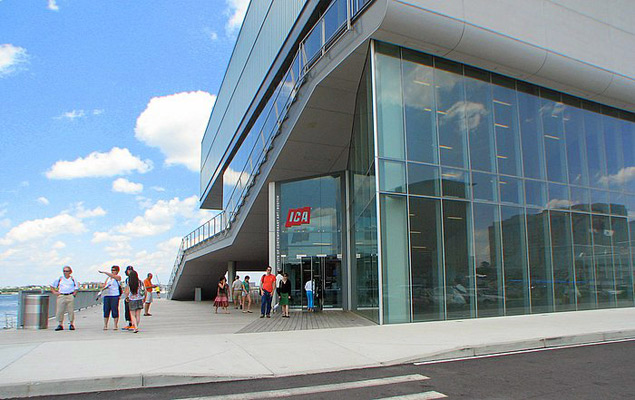 Institute of Contemporary Art , high span glass curtain wall , aluminum cladding
