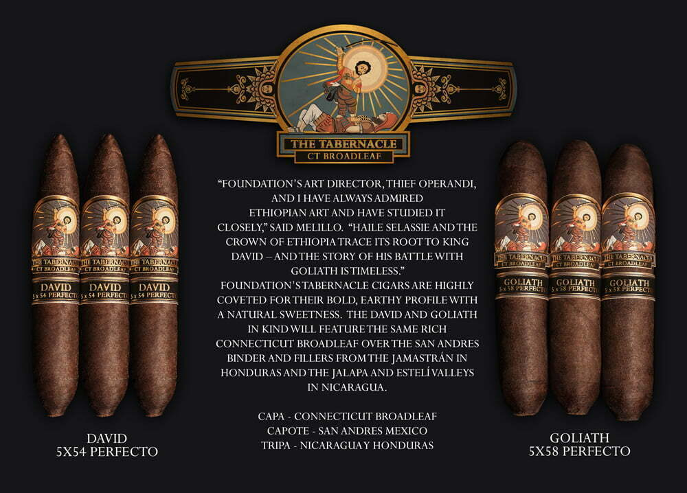La Foundation Cigars presenta i Tabernacle David e Goliath Perfectos