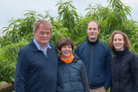 La famiglia Faccio dell'Azienda Agricola Biologica Enrico Faccio