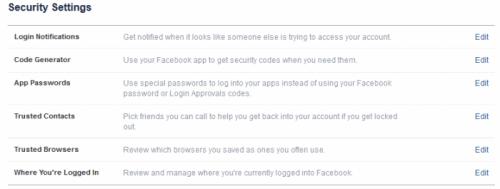 Facebook-security-settings