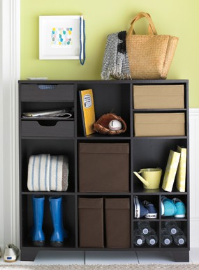 fabric drawer cube system