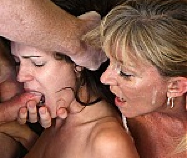 Mother And Daughter Face Fucked On Camera