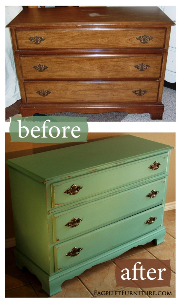 Gentil Jade Distressed Dresser   Before U0026 After. Facelift Furniture DIY Blog.