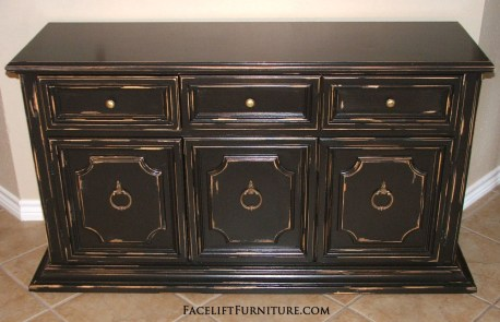 Black Distressed Cabinet from Facelift Furniture