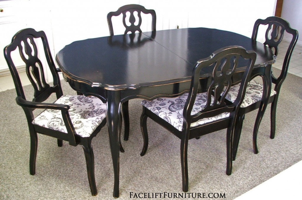 Black French Dining Set