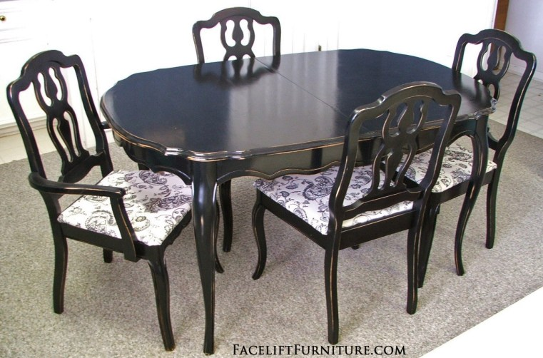Black French Dining Set