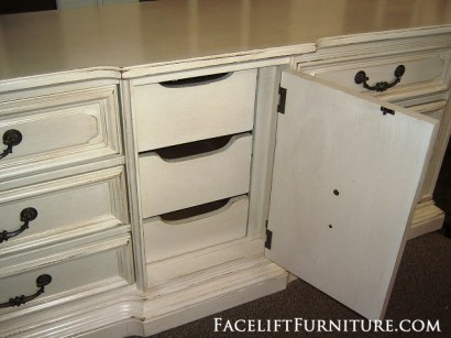 Chunky Vintage Dresser in Antiqued White from Facelift Furniture