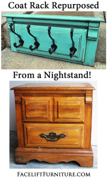 Coat Rack Repurposed from a Nightstand Facelift Furniture