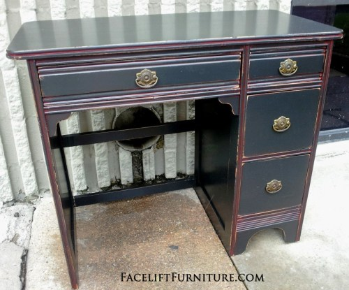 Black Desk Red Glaze Facelift Furniture