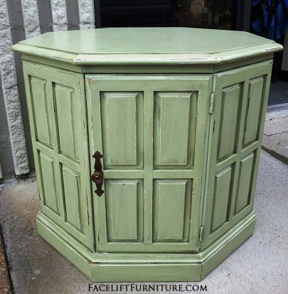Green Octogon End Table