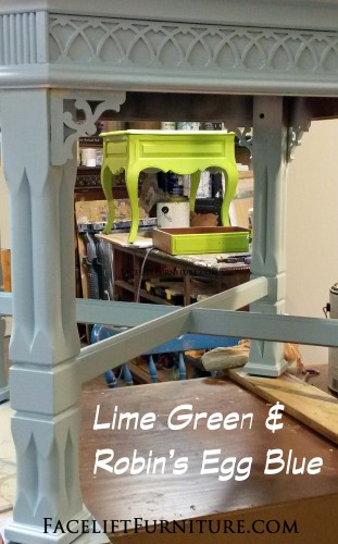 End Tables Lime Green & Robins Egg