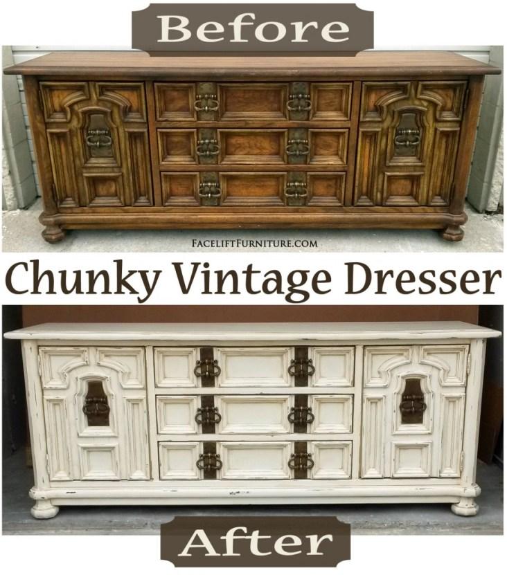 Chunky Vintage Dresser - Before & After FLF