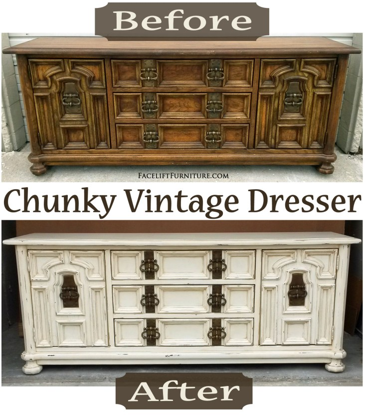 Chunky Vintage Dresser - Before & After FLF