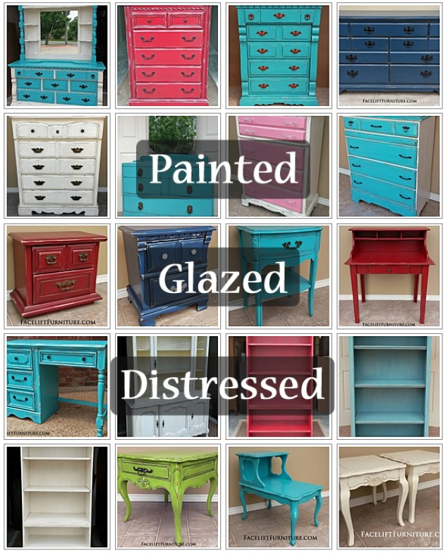Painted Glazed Distressed