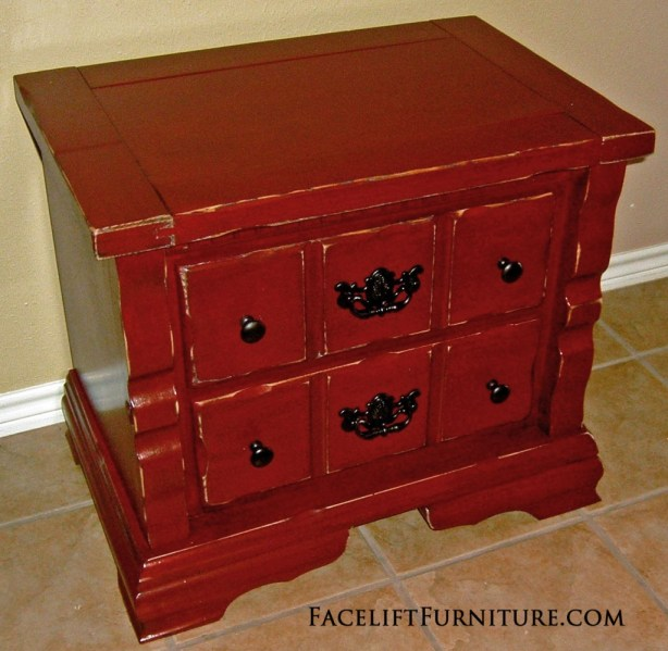 Red Chunky Nightstand FLF