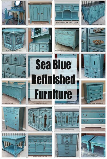 Facelift Furniture Sea Blue Refinished Furniture