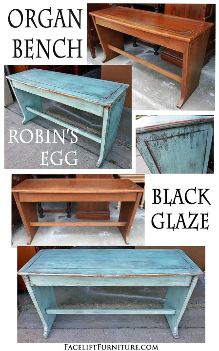 Robins Egg Bench Before & After