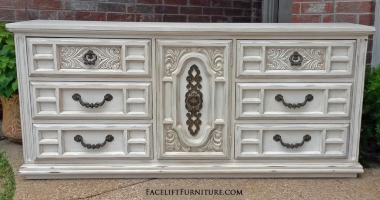 Off White Ornate Dresser