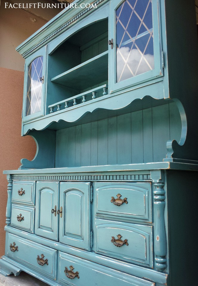 Sea Blue Hutch Facelift Furniture