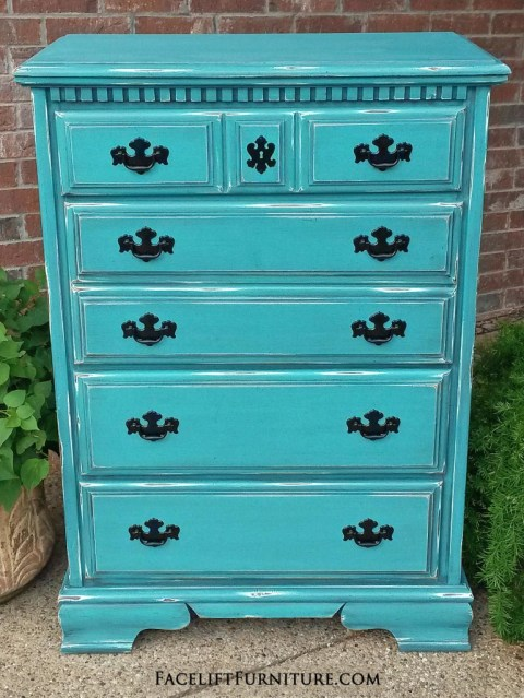 Relatively Turquoise Chest of Drawers - Facelift Furniture SQ33