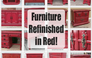 Furniture Refinished in Red