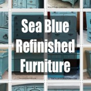 Turquoise Refinished Furniture! From Facelift Furniture's Color Collection.