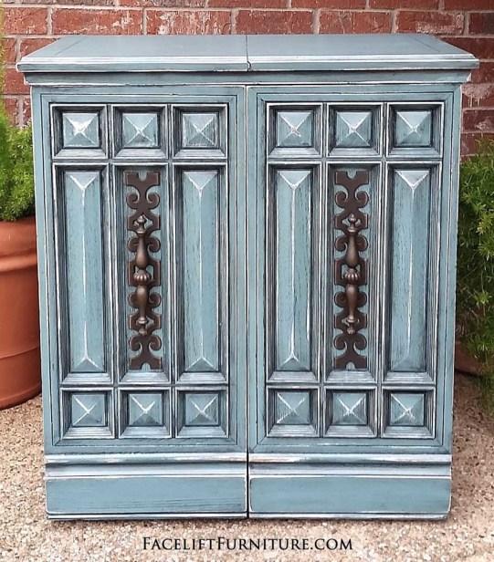 Sea Blue Retro Sewing Cabinet FLF