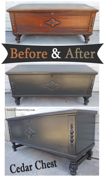 Black Cedar Chest - Before & After
