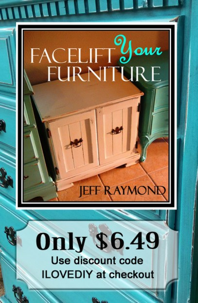 Facelift Your Furniture in Turquoise! Our user friendly DIY eBook only $6.49 with code ILOVEDIY!