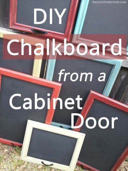 DIY Chalkboard from a Cabinet Door - Repurposing Inspiration from Facelift Furniture
