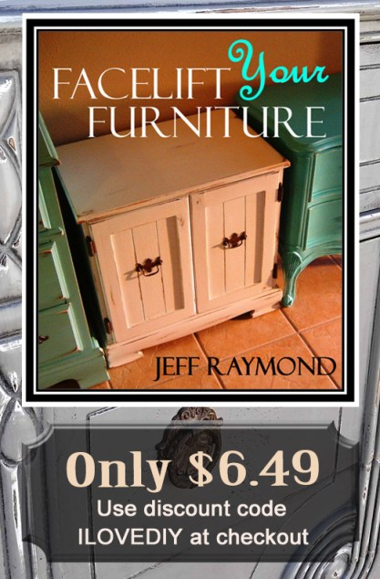 Learn to refinish your furniture with paint, glaze and distressing. Our diy eBook Facelift Your Furntiure is only $6.49 with code ILOVEDIY!