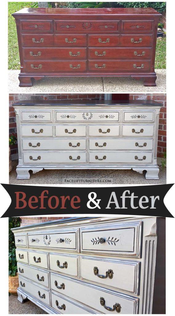 dresser in distressed black u0026 aspen gray before u0026 after