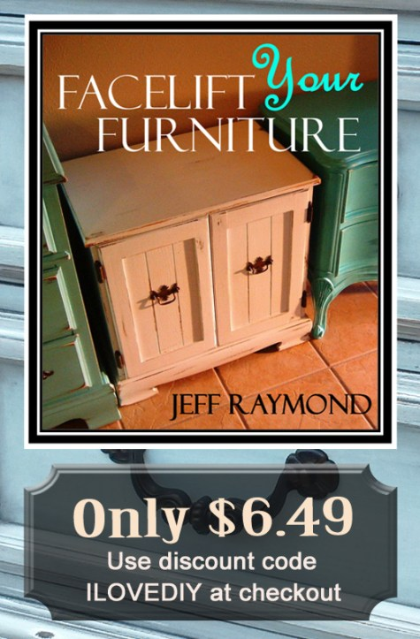 Purchase our DIY eBook Facelift Your Furniture for only $6.49!