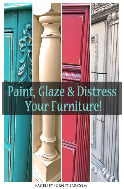 Paint, glaze and distress your weary old furniture - DIY how-to help from Facelift Furniture!