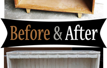 Bookshelves – Before & After