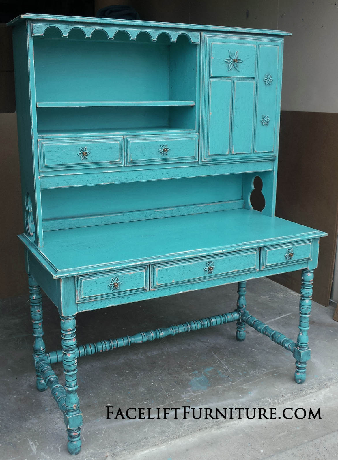 For More Inspiration, Visit Our Turquoise Refinished Furniture Collection.