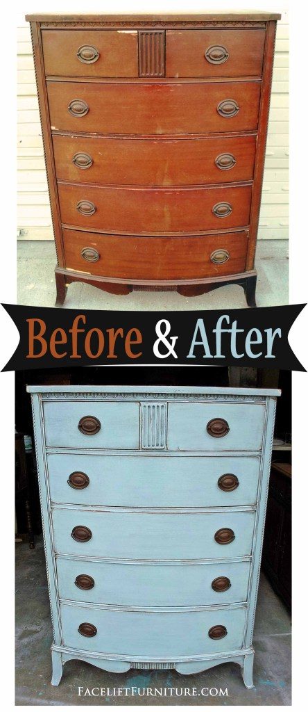 Chest of Drawers in Robin's Egg Blue - Before & After