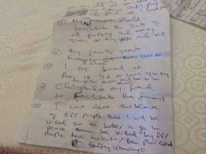 Kamanya suicide note