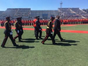 Mutharika inpecting the Army parade