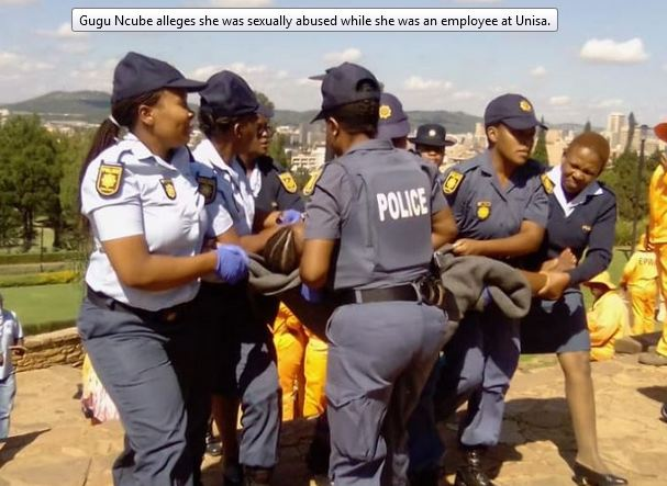 Woman Arrested For Protesting Naked In South Africa  Face -8738