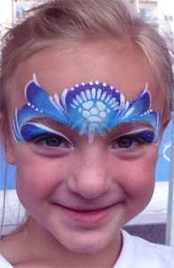 Elsa- face painting Cincinnati