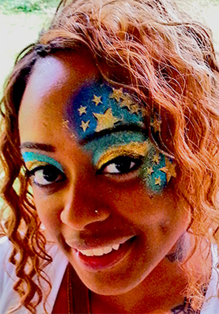 face painting, adult, stars